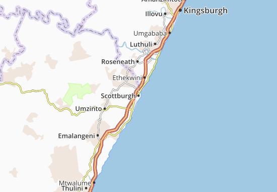 Scottburgh Map