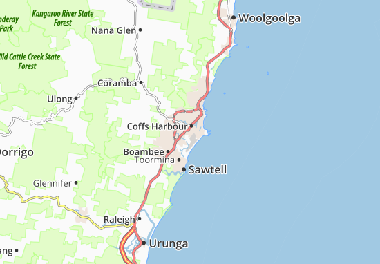 Coffs Harbour Map