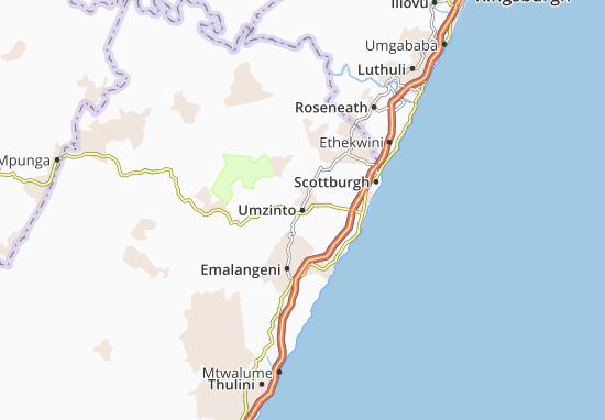 Umzinto Map