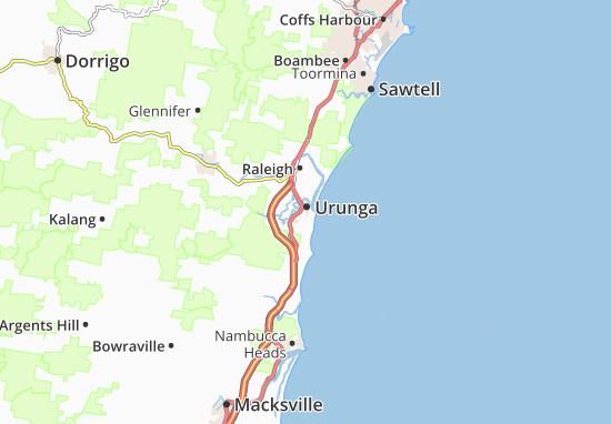 Urunga Map