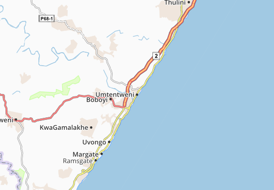 Umtentweni Map
