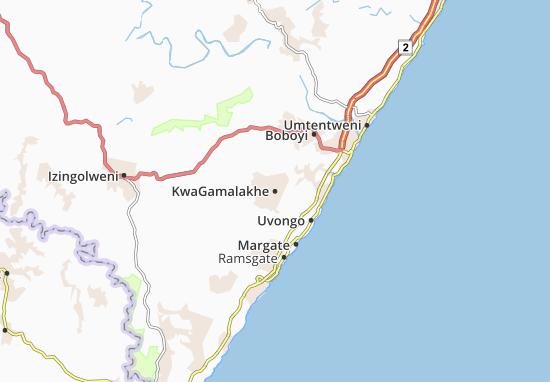 KwaGamalakhe Map