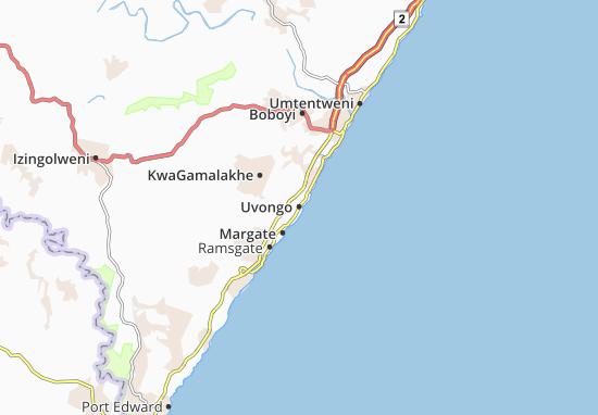 Uvongo Map
