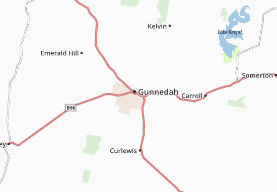 Kaart Plattegrond Gunnedah