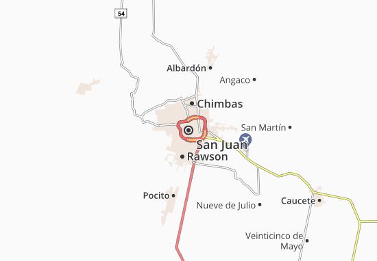 Karte Stadtplan San Juan