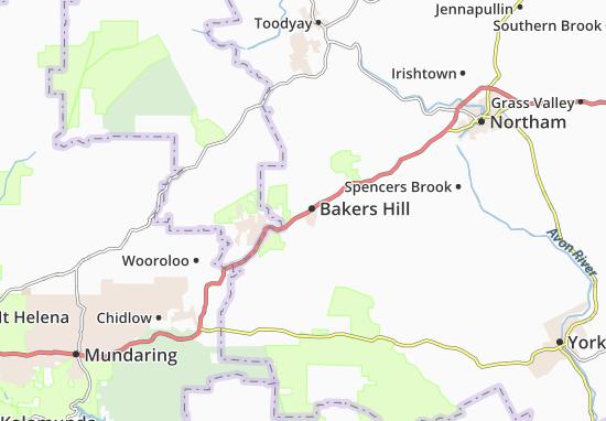 Mapas-Planos Bakers Hill