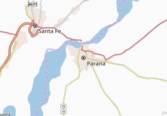 Mapa Plano Paraná