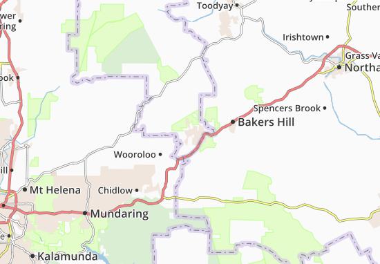 Wundowie Map