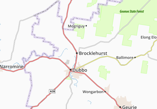 Brocklehurst Map