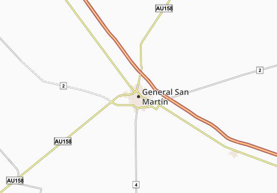 Mapa Plano General San Martín