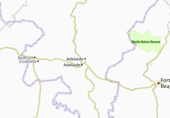 Carte-Plan Adelaide