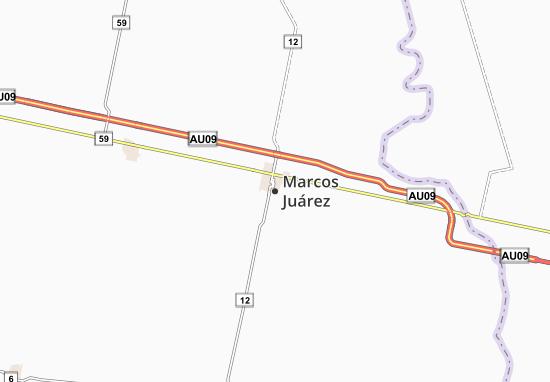 Mapa Plano Marcos Juárez