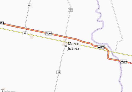 Marcos Juárez Map