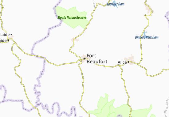 Carte-Plan Fort Beaufort