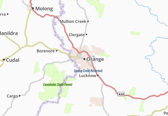 Carte-Plan Orange