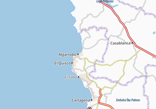 Algarrobo Map