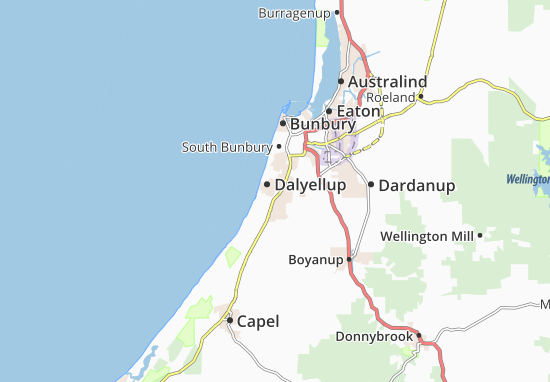 Dalyellup Map