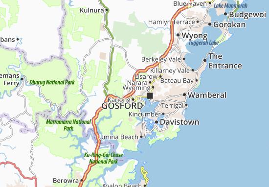 Central Coast Map
