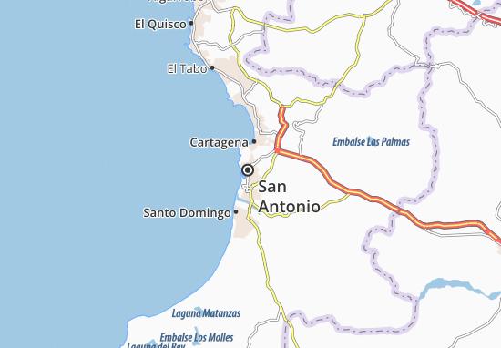 Kaart Plattegrond San Antonio