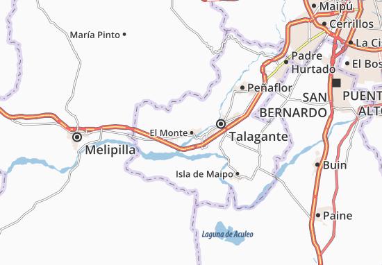 Kaart Plattegrond El Monte