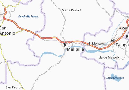 Karte Stadtplan Melipilla