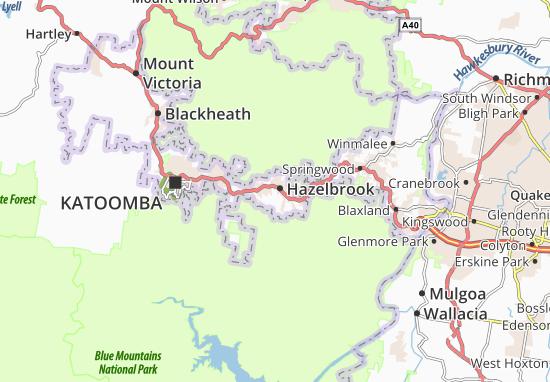 Mapas-Planos Hazelbrook
