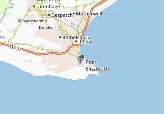 Carte-Plan Port Elizabeth