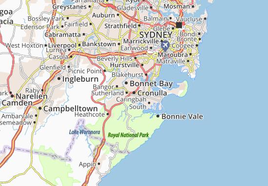 Kaart Plattegrond Cronulla