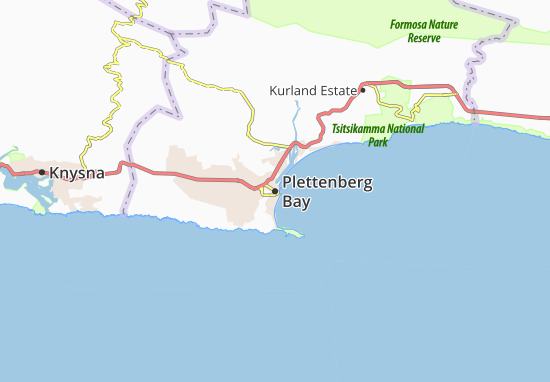 Carte-Plan Plettenberg Bay
