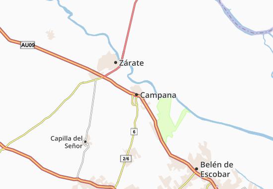 Mapa Plano Campana