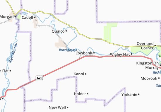 Kaart Plattegrond Waikerie