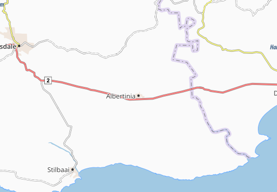 Carte-Plan Albertinia