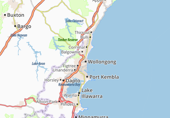 Map Of Wollongong Wollongong Map: Detailed maps for the city of Wollongong   ViaMichelin