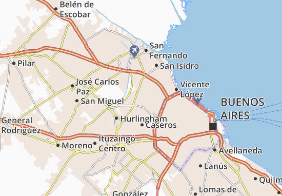 Carte-Plan Villa General Antonio José de Sucre