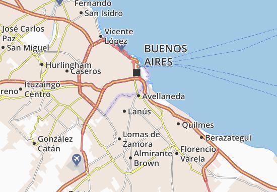 Kaart Plattegrond Avellaneda