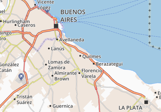 Karte Stadtplan Quilmes