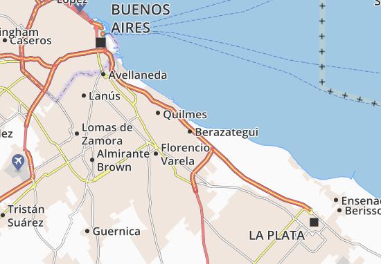 Kaart Michelin Berazategui Plattegrond Berazategui Viamichelin