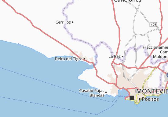 Carte-Plan Delta del Tigre