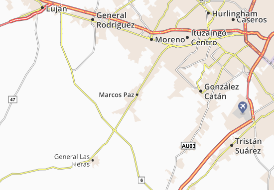 All ViaMichelin for Marcos Paz. Map of Marcos Paz   Michelin Marcos Paz map   ViaMichelin