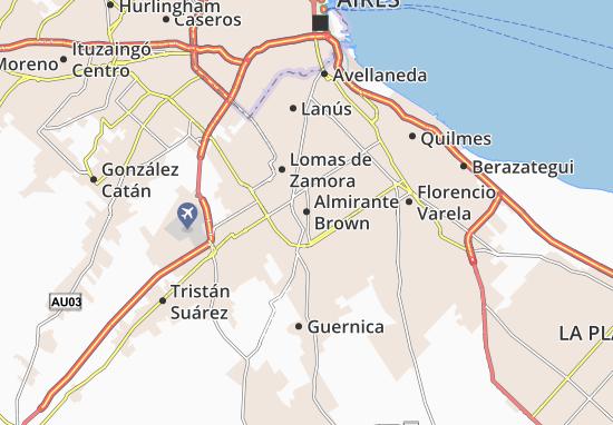 Kaart Plattegrond Almirante Brown