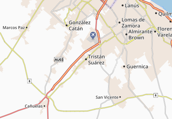 Karte Stadtplan Tristán Suárez