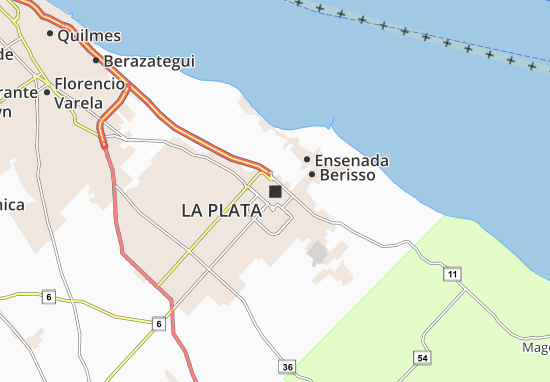 Kaart Michelin La Plata Plattegrond La Plata Viamichelin
