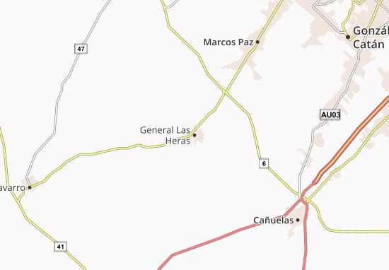Carte-Plan General Las Heras