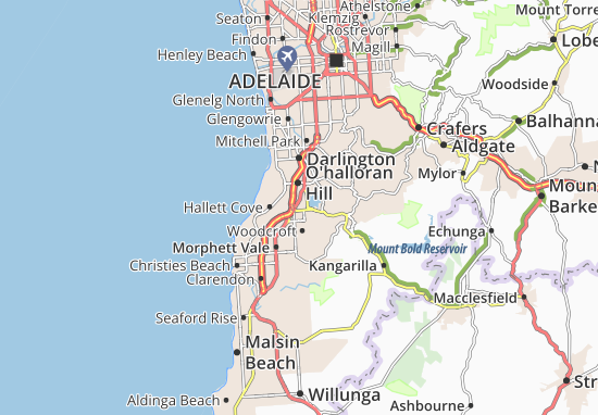 O'halloran Hill Map