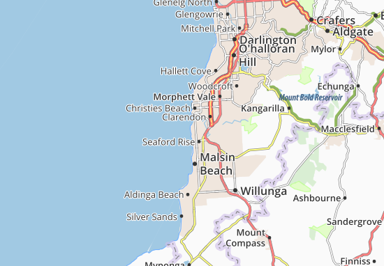 Carte-Plan Port Noarlunga
