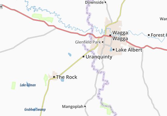 Kaart Plattegrond Uranquinty