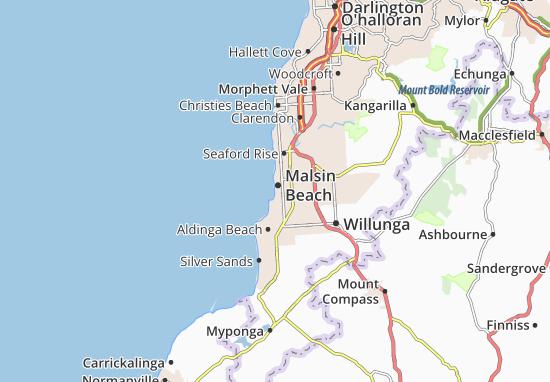 Mapa Plano Malsin Beach