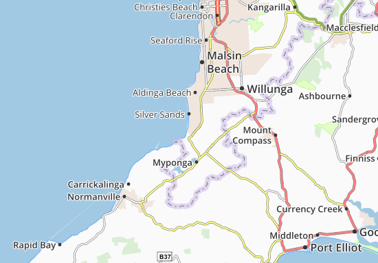 Mappe-Piantine Sellicks Beach