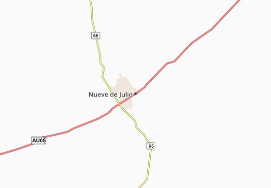 Kaart Plattegrond Nueve de Julio