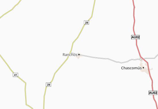 Kaart Plattegrond Ranchos